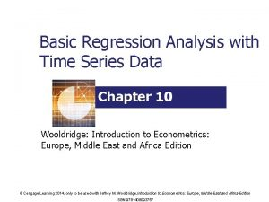 Basic Regression Analysis with Time Series Data Chapter