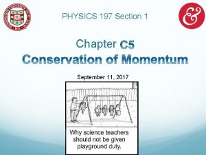 PHYSICS 197 Section 1 Chapter September 11 2017