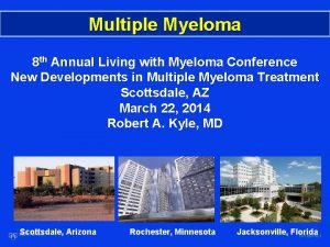 Multiple Myeloma 8 th Annual Living with Myeloma