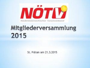 St Plten am 21 3 2015 Tagesordnung Teil