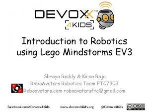 Introduction to Robotics using Lego Mindstorms EV 3