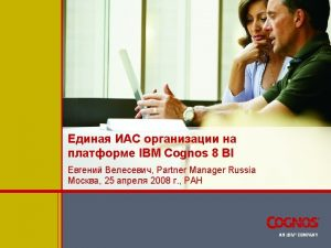 IBM IBM Cognos 8 Planning IBM Cognos 8