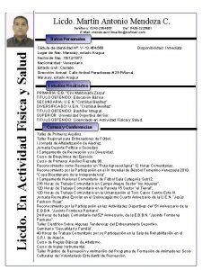 Licdo Martin Antonio Mendoza C Telfono 0243 2364309