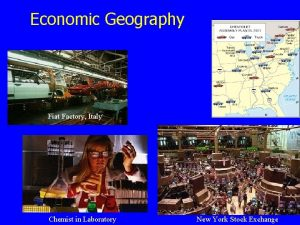 Economic Geography Fiat Factory Italy Chemist in Laboratory