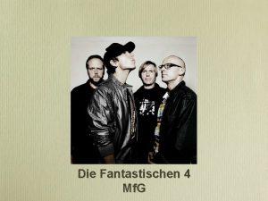 Die Fantastischen 4 Mf G Kurz wrter im