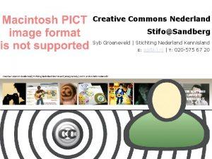 Creative Commons Nederland StifoSandberg Syb Groeneveld Stichting Nederland