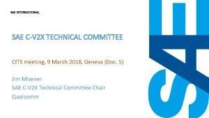 SAE INTERNATIONAL SAE CV 2 X TECHNICAL COMMITTEE