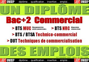 diplme qualification insertion emploi BTS MUC BTS NRC