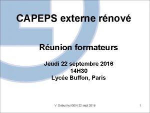 CAPEPS externe rnov Runion formateurs Jeudi 22 septembre