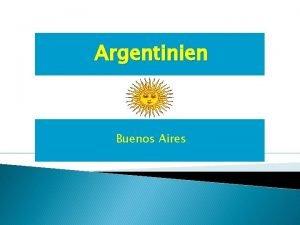Argentinien Buenos Aires Klima Natur Geologie Leute in