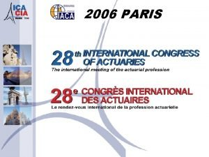 2006 PARIS Insurance programme in developing countries Chairmen