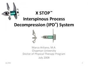 X STOP Interspinous Process Decompression IPD System Marco
