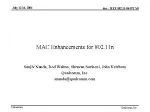 July 12 16 2004 MIMO Technology doc IEEE