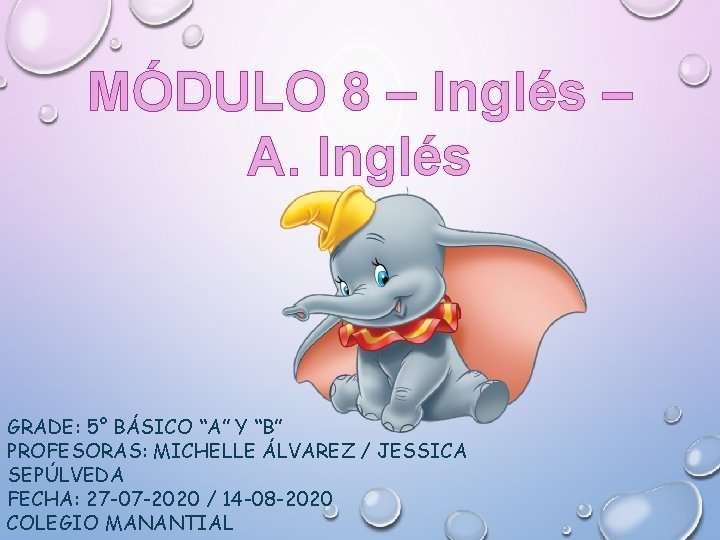 MDULO 8 Ingls A Ingls GRADE 5 BSICO