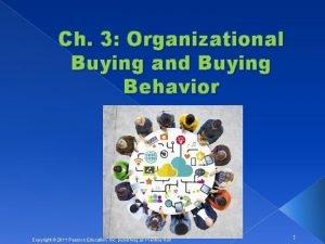 Ch 3 Organizational Buying and Buying Behavior Copyright