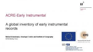 ACREEarly Instrumental A global inventory of early instrumental