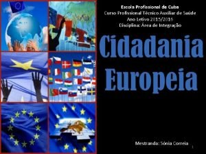 Escola Profissional de Cuba Curso Profissional Tcnico Auxiliar