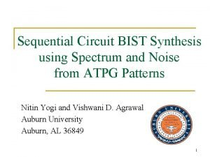 Sequential Circuit BIST Synthesis using Spectrum and Noise