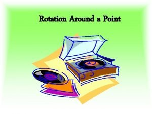 Rotation Around a Point A Rotation is A