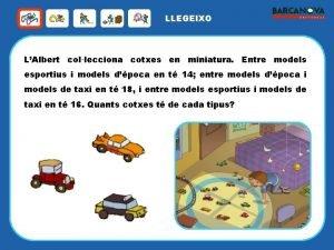 LLEGEIXO LAlbert collecciona cotxes en miniatura Entre models