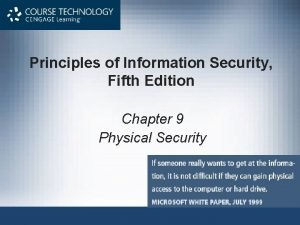 Principles of Information Security Fifth Edition Chapter 9