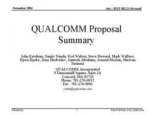 November 2004 doc IEEE 802 11 04xxxr 0