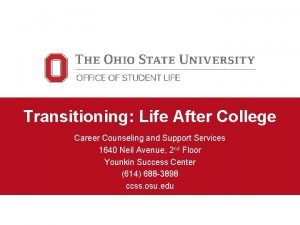 Transitioning Life After College Career Counseling and Support