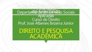 Centro de Cincias Sociais Aplicadas Universidade Federal Rural