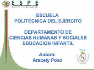 ESCUELA POLITCNICA DEL EJRCITO DEPARTAMENTO DE CIENCIAS HUMANAS