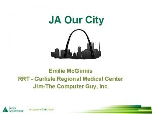 JA Our City Emilie Mc Ginnis RRT Carlisle