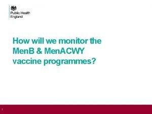 How will we monitor the Men B Men