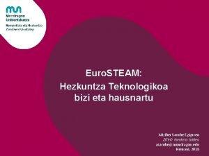 Euro STEAM Hezkuntza Teknologikoa bizi eta hausnartu Aitziber