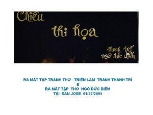 RA MT TP TRANH TH TRIN LM TRANH