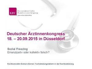 Deutscher rztinnenkongress 19 09 2015 Deutscher rztinnenkongress 18