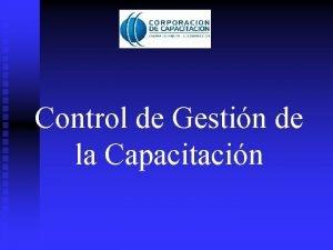 Control de Gestin de la Capacitacin Capacitacin Inversin