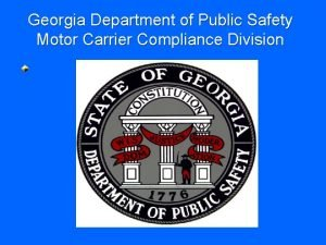 Georgia Department of Public Safety Motor Carrier Compliance