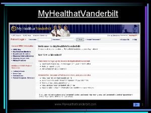 My Healthat Vanderbilt www My Healthat Vanderbilt com