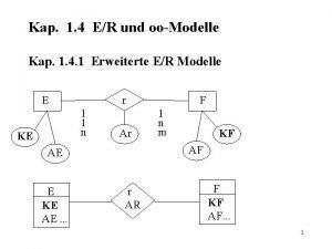 Kap 1 4 ER und ooModelle Kap 1
