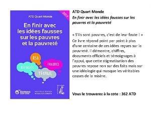 ATD Quart Monde En finir avec les ides