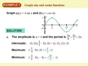 EXAMPLE 1 Graph sine and cosine functions Graph