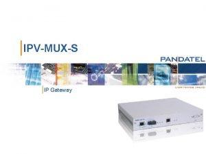 IPVMUXS IP Gateway IPVMUXS IP Gateway VT 100