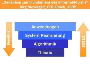 Gedanken zum Fundament des Informatikturms Jrg Nievergelt ETH
