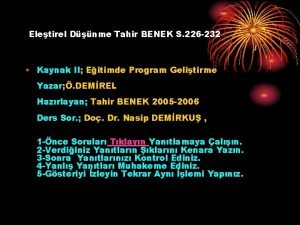 Eletirel Dnme Tahir BENEK S 226 232 Kaynak