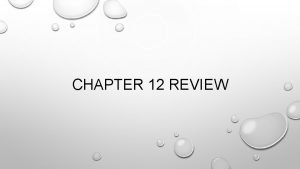 CHAPTER 12 REVIEW TRUE OR FALSE IF EXPENSES