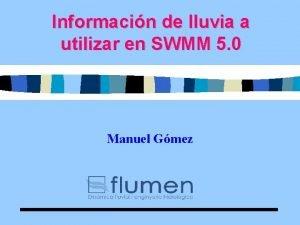 Informacin de lluvia a utilizar en SWMM 5