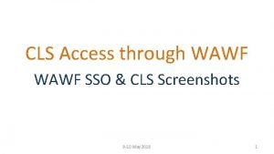 CLS Access through WAWF SSO CLS Screenshots 8