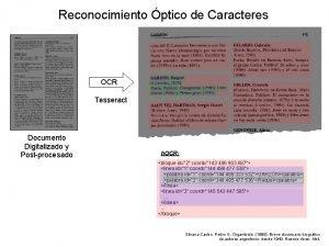 Reconocimiento ptico de Caracteres OCR Tesseract Documento Digitalizado