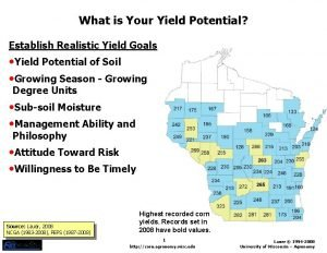 What is Your Yield Potential Establish Realistic Yield