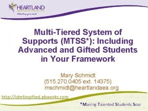 Day 1 MultiTiered System of Supports MTSS Including
