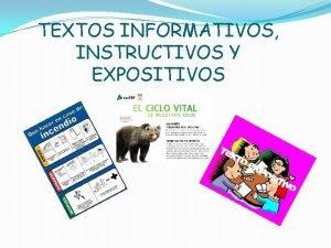 TEXTOS INFORMATIVOS INSTRUCTIVOS Y EXPOSITIVOS LA CARTILLA Es